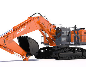 Excavator Hitachi EX1200-7 3D model