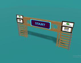 3D asset Race start poles