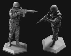 Modern soldier 52mm 120mm 3D print model