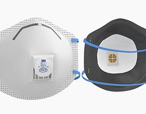 Mask Particulate Respirator 8271 3D asset game-ready