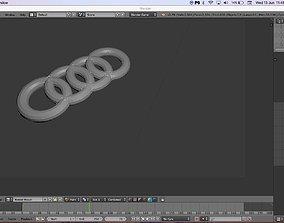 3D print model audi logo