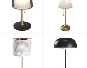 3D model IKEA Lamps Set