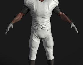 Game ready football player 3D asset