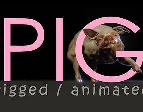 3D asset Pig animated - Walk Cycle