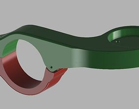 Bryton Handlebar Mount Front Rider 3D printable model 3