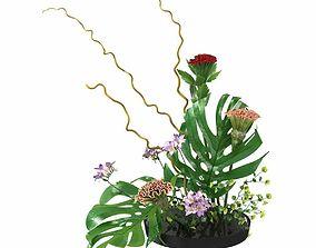 ikebana Japanese art of flower arranging 3d model