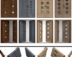 Entrance wood doors 3D model