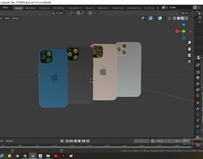3D model iphone 12 pro screen