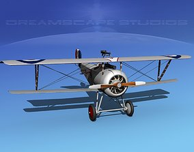 Nieuport 17 Fighter V08 RAF 3D model
