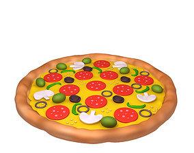 Pizza Cartoon 3D model