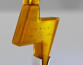 3D asset Tesla Tequila - 2020 Teslaquila bottle