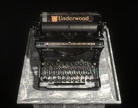 macro 3D Typewriter