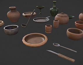 3D model PBR Medieval tableware
