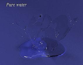 3D model water drop shape