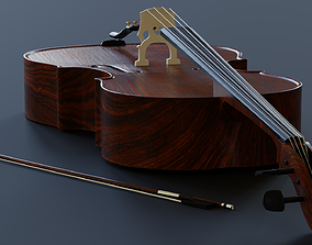 musical Cello - 3D model prop gameready