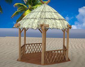 Tiki Hut Low Poly 3D model