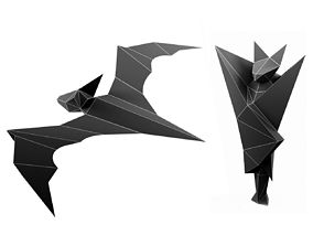 Lowpoly bat 3D printable model