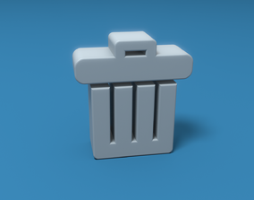 Trash UI Symbol 3D model realtime