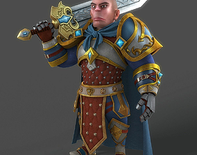 3D Cartoon Warrior Rigged