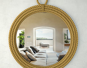 3D Aspen Oval Mirror Jeffan