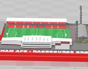 3D printable model Wrexham AFC - Racecourse