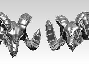 animal Ram head bust sculpture 3D print model