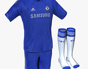 3D Chelsea FC Home Soccer Jersey