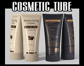 Cosmetic tube 02 sanitary 3D model