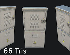 3D model low-poly Utility Box