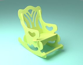 Toy rocking chair easy assembly 3D