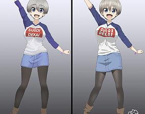 Uzaki Hana 3D