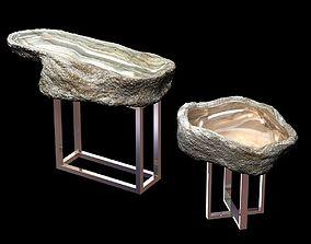 Onyx Basin Stainless Steel Base 3D model