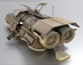 3D model animated Futuristic Transport Shuttle