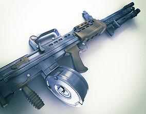 3D model SA80 Machine gun Hi-Res