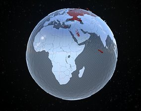 3D asset Earth stylized for motion graphics