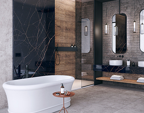 3D model Bathroom scene FLAVIKER CATALOG