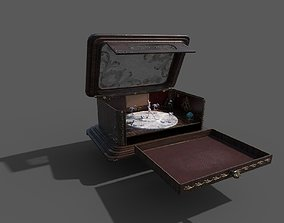 Vintage retro jewelry box PBR low-poly 3D game-ready