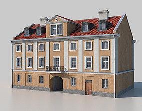 Classic building facade 02 3D model