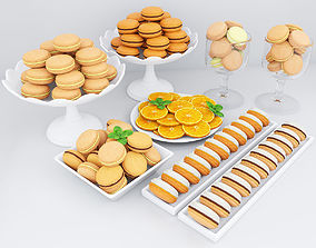 Orange macarons 3D model