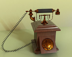 3D asset antique landline