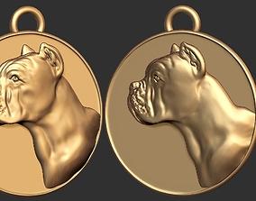 platinum Dog Coin Pendant Ready for 3D Print
