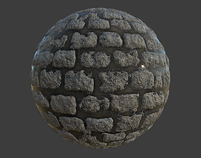 Wet Cobblestones Material 3D model