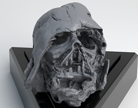 Melted Darth Vader Helmet - Star Wars Skull 3D Print