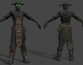 3D model game-ready Plague Doctor