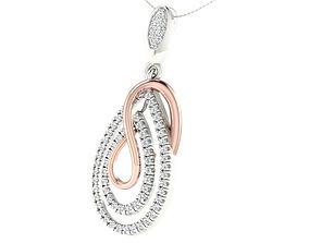 Women pendant earrings set 3dm stl render detail 3D 1