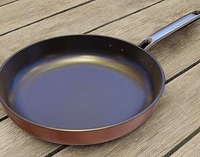 Frying pan kitchenware 3D
