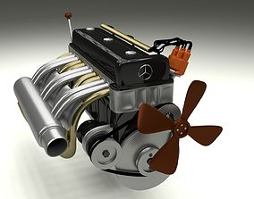 3D Mercedes 300SL Engine
