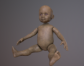 Wooden or Plastic doll 3D model