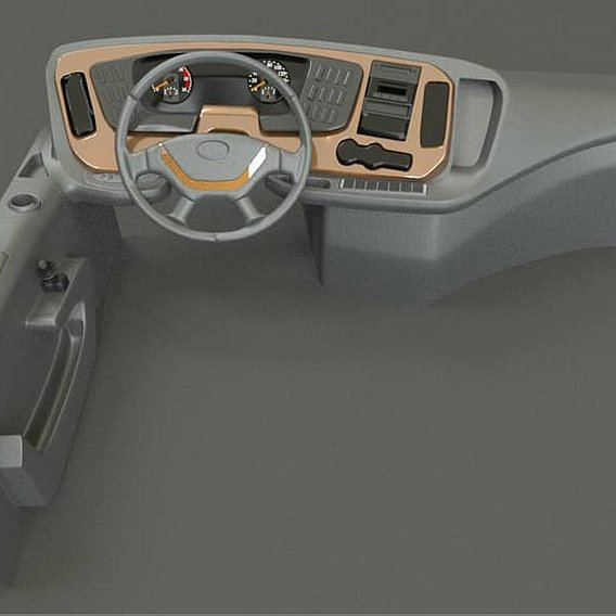 INTERIOR KIA GRANBIRD  3D MODEL