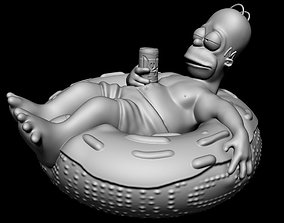 3D print model Homer Simpson with support